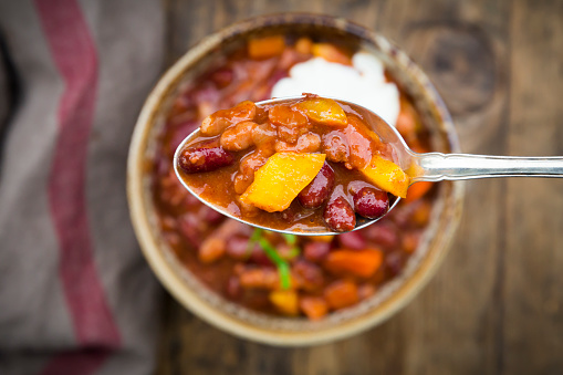 Butternut Squash and Chicken Chili