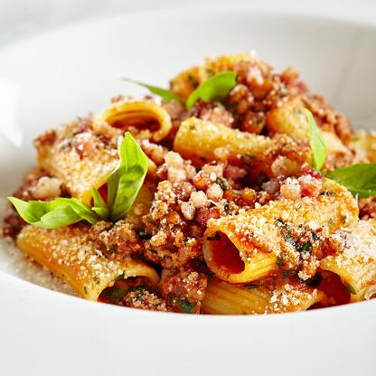 Tomato and Bacon Rigatoni
